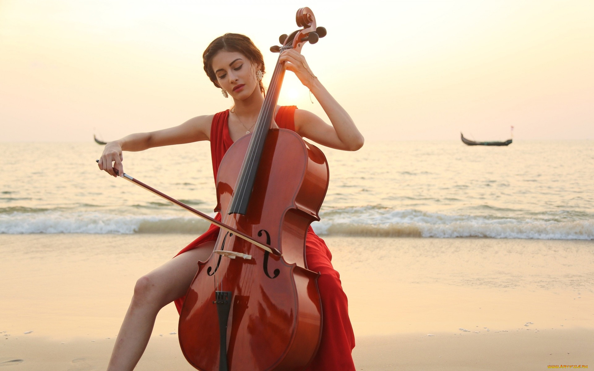 Картинки виолончель и девушка